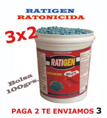 Oferta RATIGEN RATONICIDA. 3x2