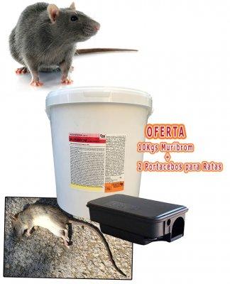 Oferta Raticida-ratonicida Muribrom con portacebos ratas